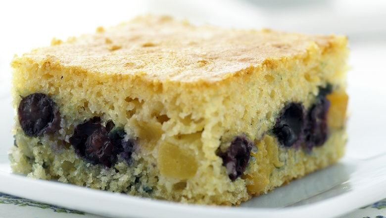 Healthified Blueberry-Peach Coffee Cake recipe from Live Better ...
