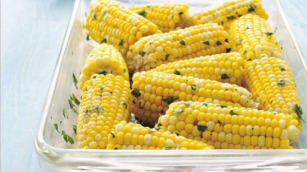 Oven-Steamed Herbed Corn