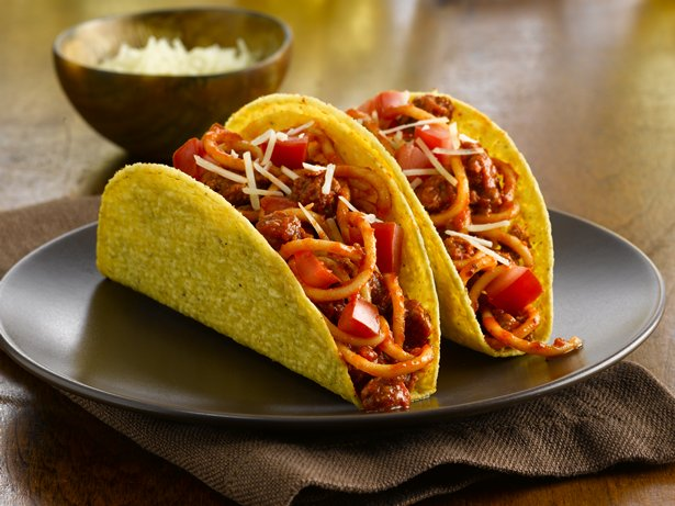 Fiesta Spaghetti Tacos