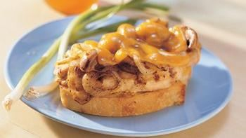 Grilled Cheddar-Chicken Fillet Sandwiches