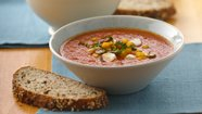 Roasted Red Pepper Soup with Mozzarella