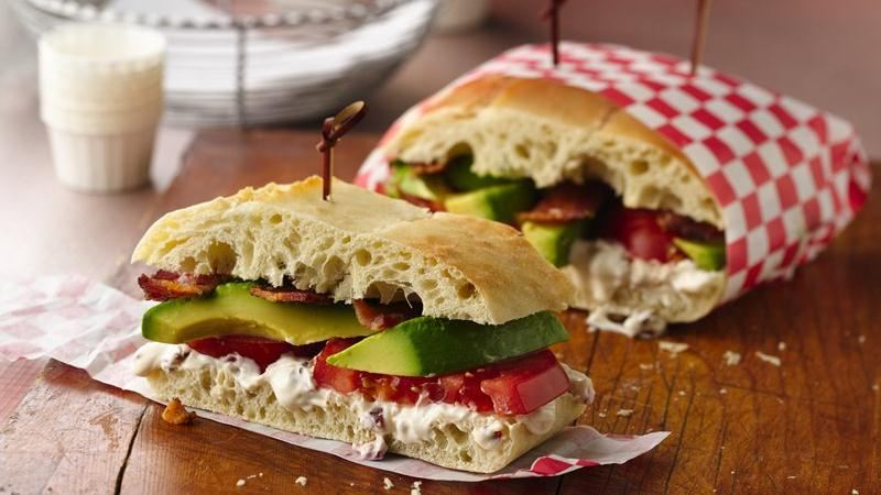 Bacon, Tomato and Avocado Sandwich with Chipotle Aioli