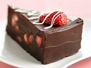 Fudge Lover's Strawberry Truffle Cake