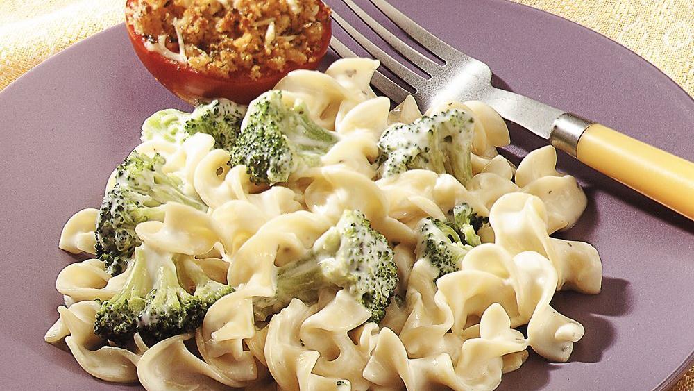 Creamy Parmesan Noodles and Broccoli