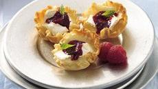 Raspberry-Brie Tarts Recipe