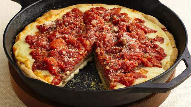 Deep-Dish Sausage Patty Pizza recipe from Pillsbury.com