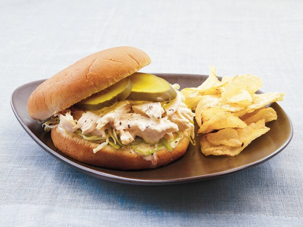 White Barbecue Chicken Sandwiches