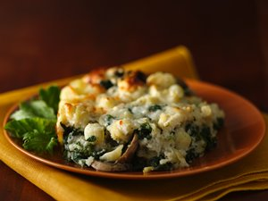 Three-Cheese&#32;Spinach&#32;and&#32;Pasta&#32;Bake