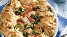 Turkey-Biscuit Pot Pie Recipe