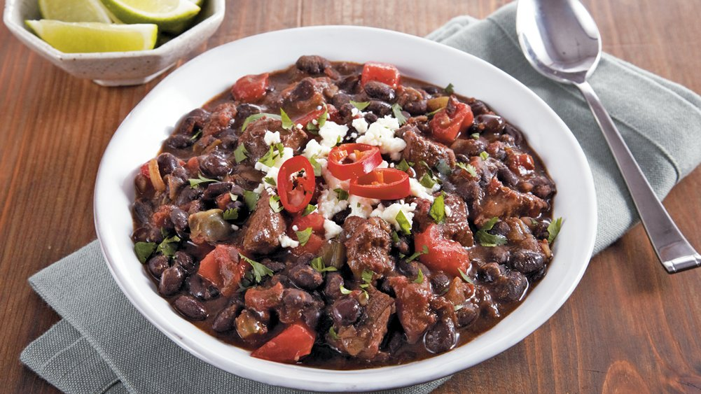 Slow-Cooker Steak and Black Bean Chili recipe from Pillsbury.com