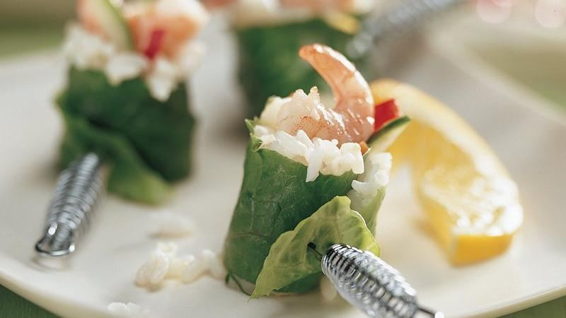 Lemon Shrimp California Rolls
