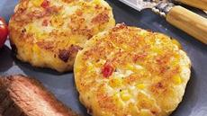 Cheesy Potato Corn Cakes Recipe