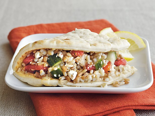 Mediterranean Flatbread Sandwiches