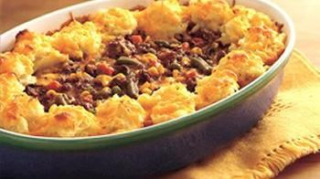Ground Beef Shepherd's Pie with Cheesy Garlic Mashed Potatoes