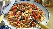 Shrimp in Tomato Sauce over Pasta