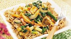 Chicken-Vegetable Chow Mein Recipe