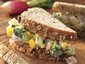 Ham and Egg Salad Sandwiches