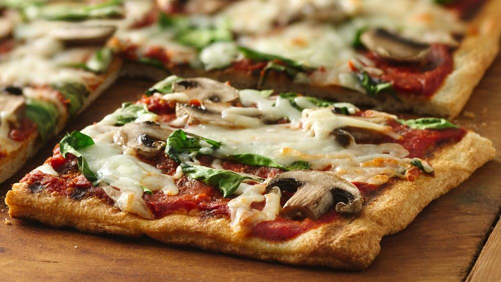 Grilled Spinach and Mushroom Pizza recipe from Pillsbury.com