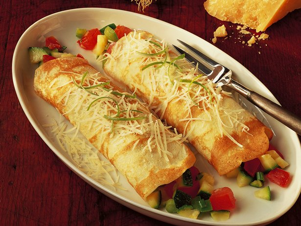 Cheesy Vegetable Crepes recipe from Betty Crocker