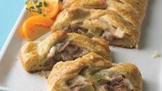 Cheese Steak Crescent Braids Recipe