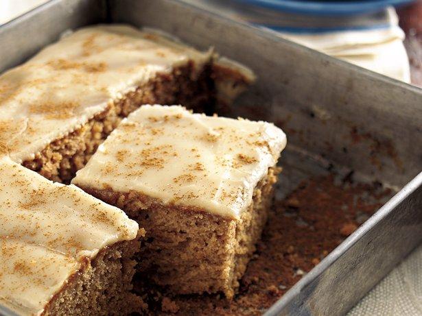Butter Rum Glazed Applesauce Cake