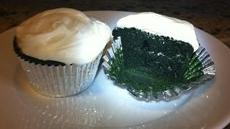 Green Velvet Cupcakes with Irish Cream Cheese Frosting Recipe