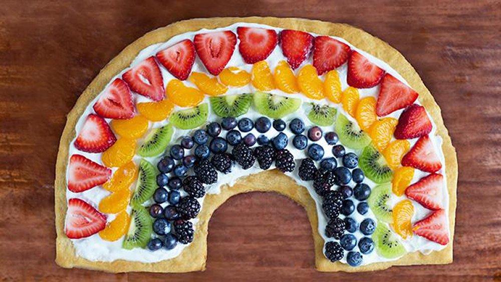 Rainbow Fruit Pizza recipe from Pillsbury.com