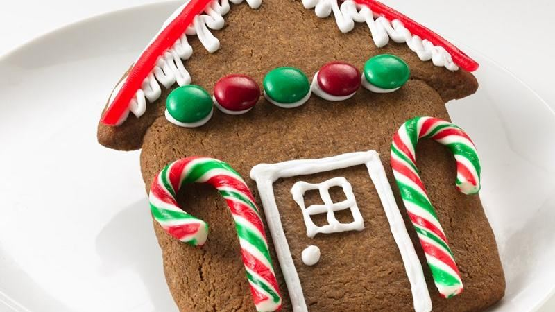 Easy Gingerbread House Cookies