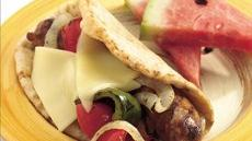 Grilled Italian Sausage and Bell Pepper Folds Recipe