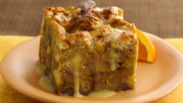 Orange-Kissed Breakfast Bread Pudding recipe from Pillsbury.com