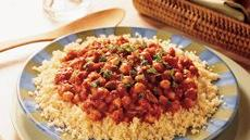 Couscous with Vegetarian Spaghetti Sauce Recipe