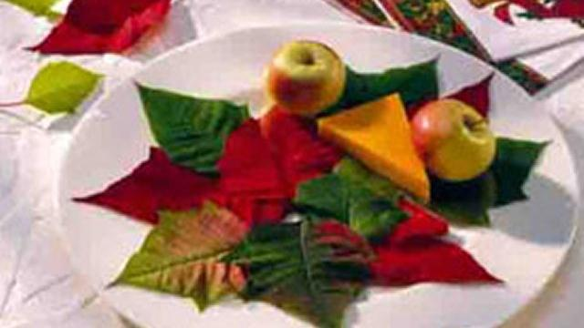 Festive Garnish Plate