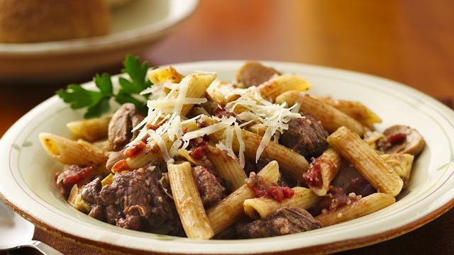 Slow Cooker Mediterranean Beef and Pasta