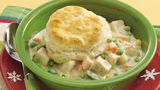 Home-Style Turkey and Biscuit Casserole Recipe