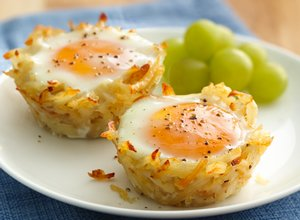 Egg&#32;Topped&#32;Hash&#32;Brown&#32;Nests