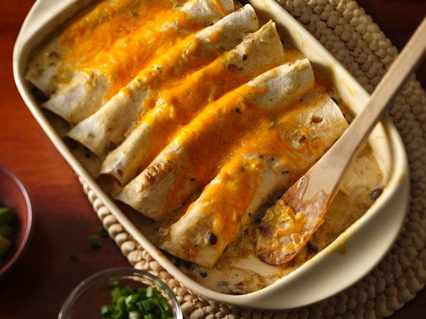 Two Cheese Chicken Enchiladas