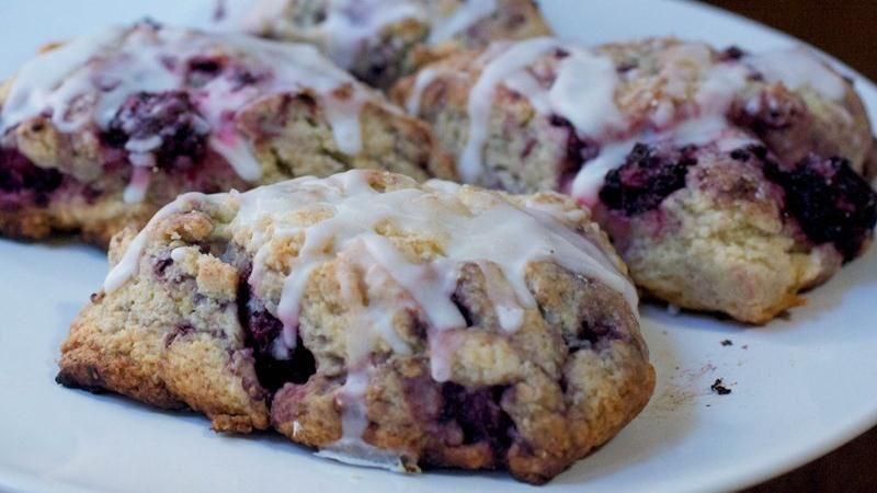 Blackberry-Lime Scones