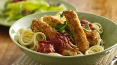 Chicken Strips Italiano with Linguine Recipe