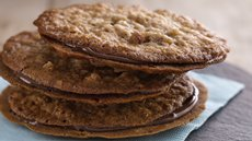 Coconut Pecan Florentine Sandwich Cookies Recipe