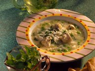 Spring Arborio Rice and Chicken Soup