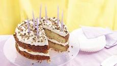 Cream-Filled Butter Pecan Birthday Cake Recipe