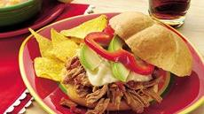 Slow Cooker Tex-Mex Turkey Sandwiches Recipe