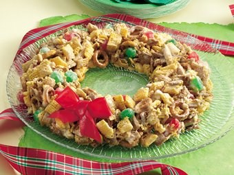 Festive Chex Mix® Wreath