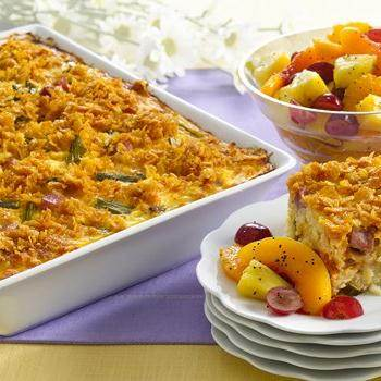 Easy Ham And Swiss Casserole Recipe — Dishmaps