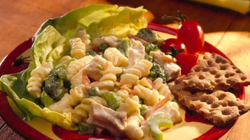 Garden Vegetables, Chicken and Pasta Salad