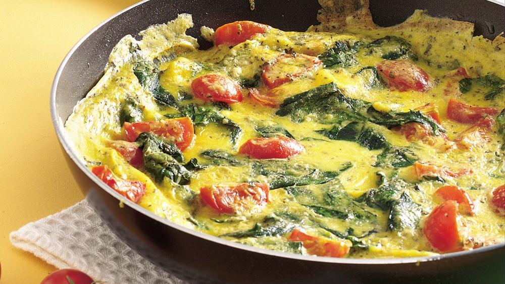 Spinach-Tomato Frittata recipe from Pillsbury.com