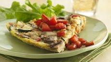 Italian Frittata with Vinaigrette Tomatoes Recipe