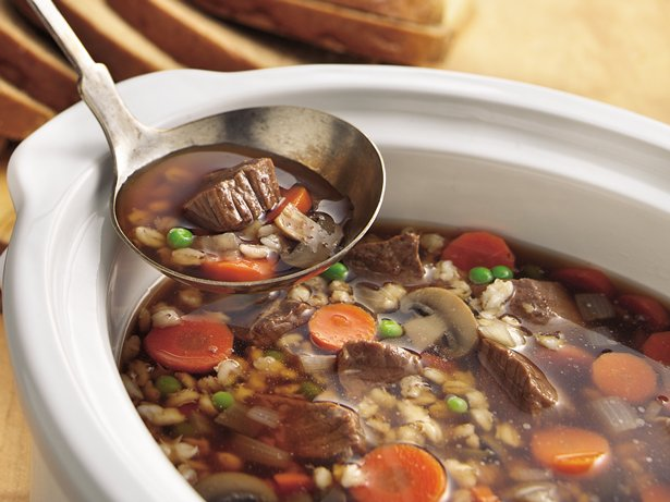 Slow Cooker Beef-Barley Soup
