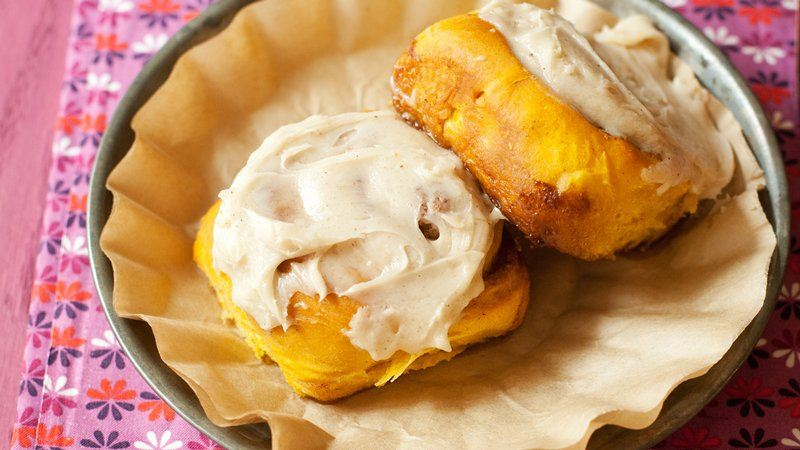 Overnight Pumpkin Spice Rolls with Cream Cheese Icing recipe from ...