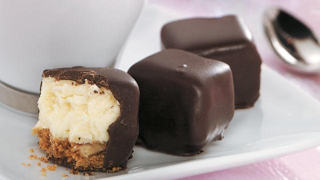 Chocolate-Covered Cheesecake Bites